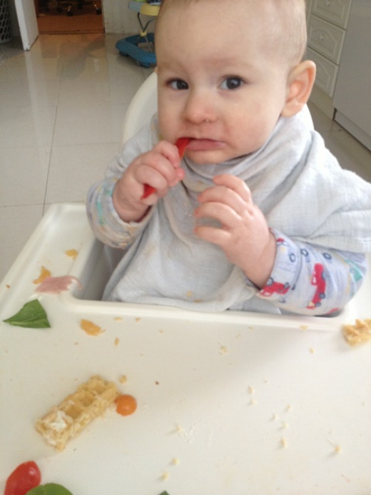 Our Baby Led Weaning journey: Lunchtime
