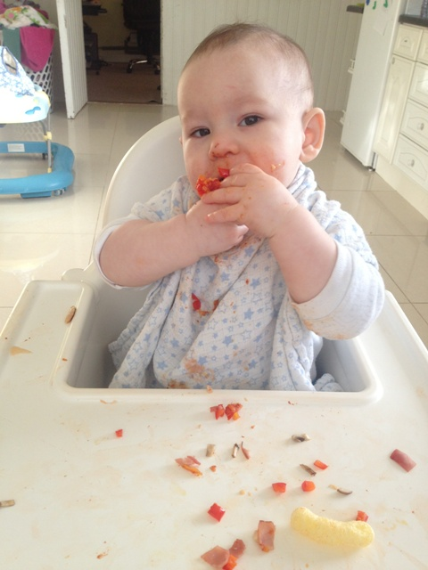 Our Baby Led Weaning journey: Pizza!