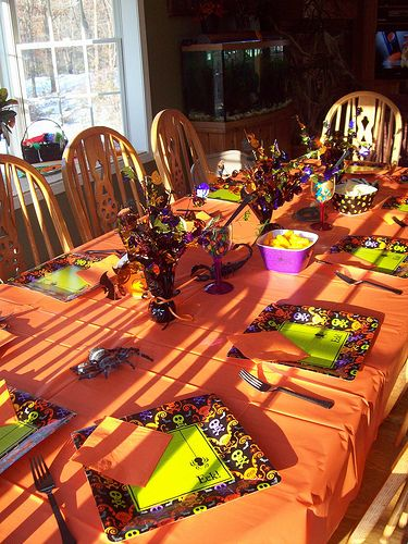 Orange Halloween Tablecloth