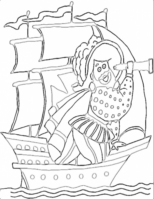 pirate ship coloring pages - Sunken Pirate Ship Coloring Pages