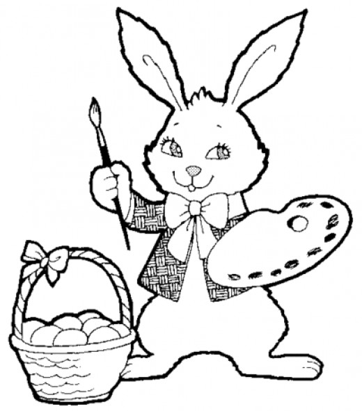 Easter Coloring pages to print. Pages to Ptiny.