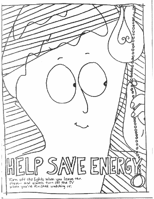Energy Coloring Page