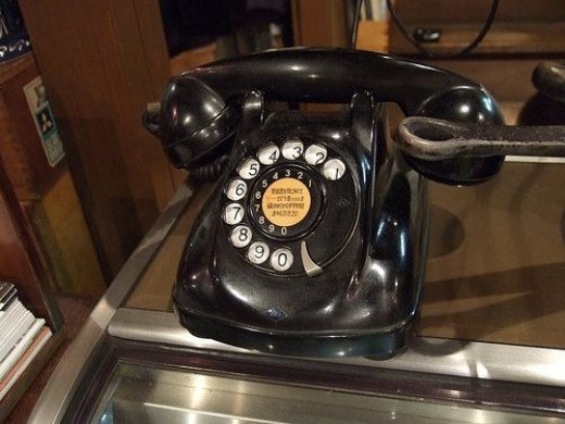 Black Dial Up Telephone