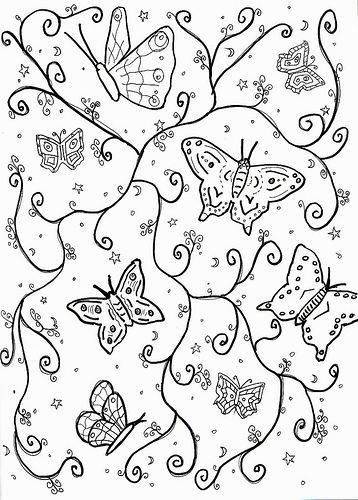 Butterfly Picture to Color
