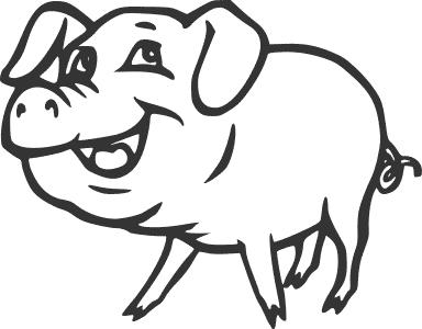 Pig Coloring Sheet