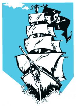 Pirate Ship Coloring Sheet