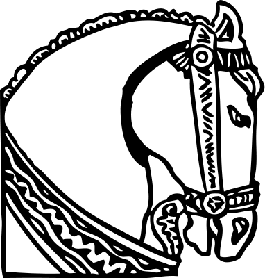 Horse Coloring Page for Kids