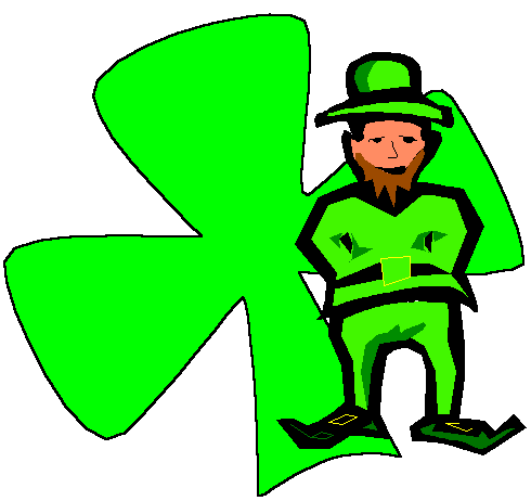 Leprechaun and Shamrock Clipart