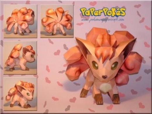 Vulpix Fanmade Paper Craft from pokemonpapercraft.com