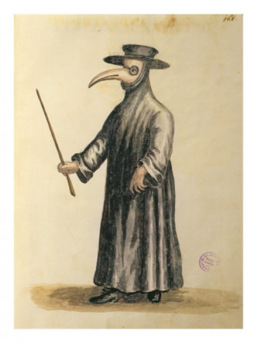 A Venetian doctor during the time of the plague.