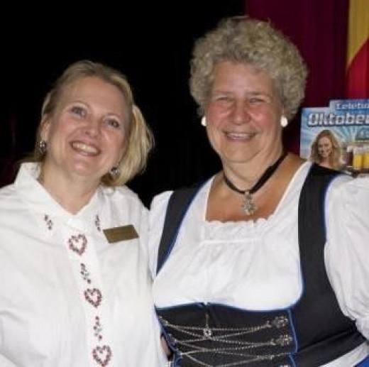 Oktoberfest Volunteer, Heidi; my special friend!