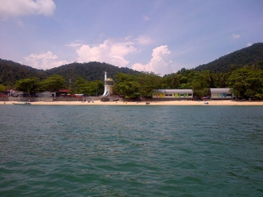 Pangkor Island from the sea