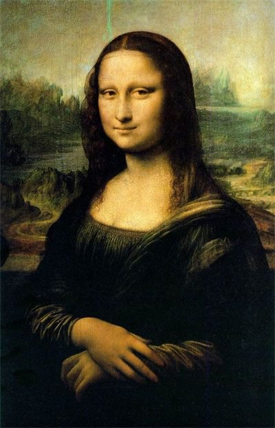 Mona Lisa - famous painting in the Louvre