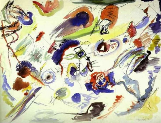first abstract painting by kandinsky