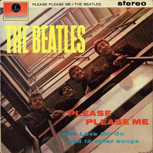 "The Beatles ""Please Please Me"" Parlophone Records PCS 3042 Stereo 12"" Vinyl Record  UK Pressing (1963) Large Stereo Cover"