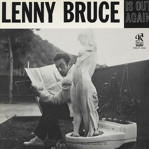"""Lenny Bruce """"Is Out Again"""" Philles Records PHLP  4010 12"""" LP Vinyl Record, US Pressing (1966) Live Recordings 1965"""