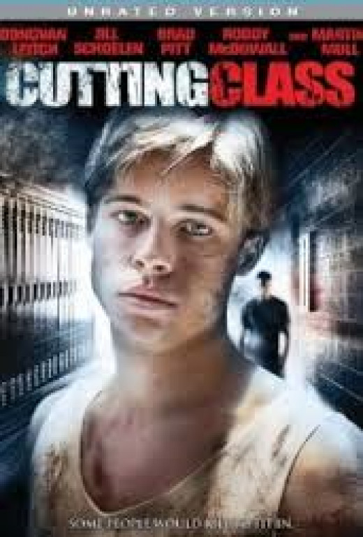 "A young Brad Pitt starred in a ""B"" movie: ""Cutting Class"""