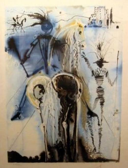 Don Quixote by Dali