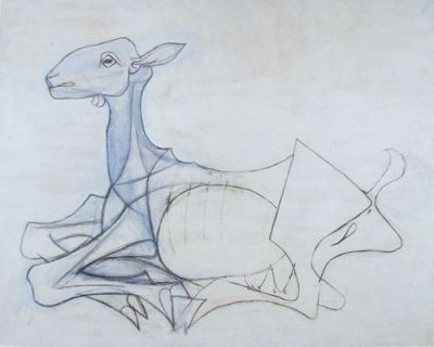 A goat drawing by Picasso.