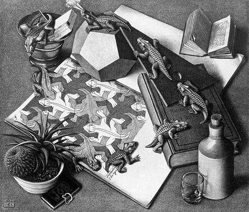 An Iguana by M.C. Escher