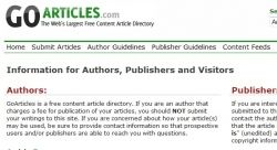 GoArticles is a good online article directory