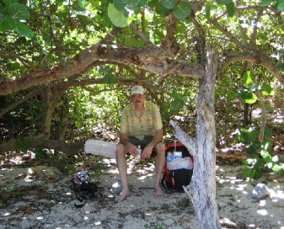 John hanging out in this amazing spot on Petites Caye... You cannot drive there. And almost no one goes there...