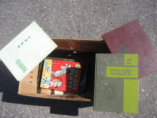 Yearbooks from Mini Storage Unit Auctions