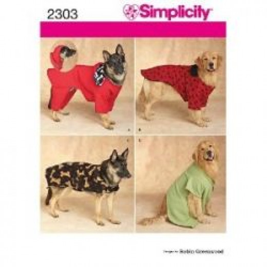 Dog Clothes Pattern #2303 by Simplicity