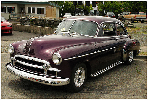A 1950 Chevy Deluxe