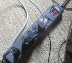 My surge protector has a grounding light indicator