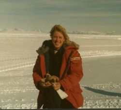 Photo of me in Antarctica - not sure of the year.