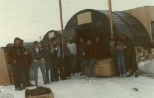 Photo of the Guys and Gals at Beardmore Glacier Camp