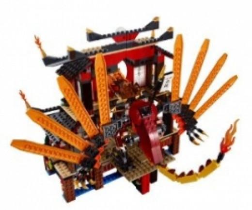 Ninjago Fire Temple Dragon