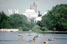 The Serpentine in Hyde Park, London England