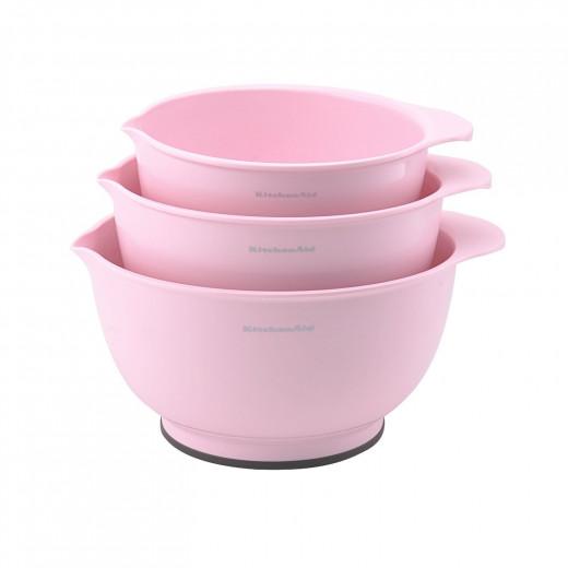 Mixing Bowls, Pink, Set of 3