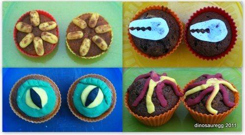 Homemade Dinosaur Cupcakes