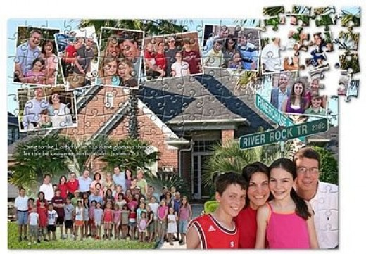 Family Reunion Photo Collage Puzzle