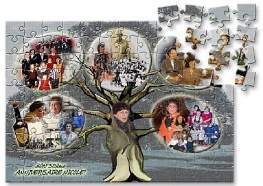 Family Tree Photo Collage Puzzle