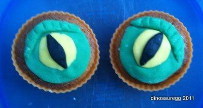 Dinosaur Eye Cupcakes
