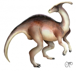 Parasaurolophus clip art