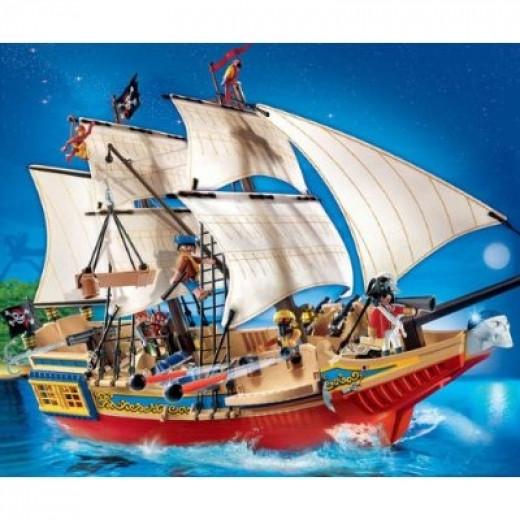Large Playmobil Pirate Ship