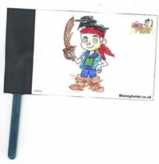 Jake and the Neverland Pirates Coloring Flag
