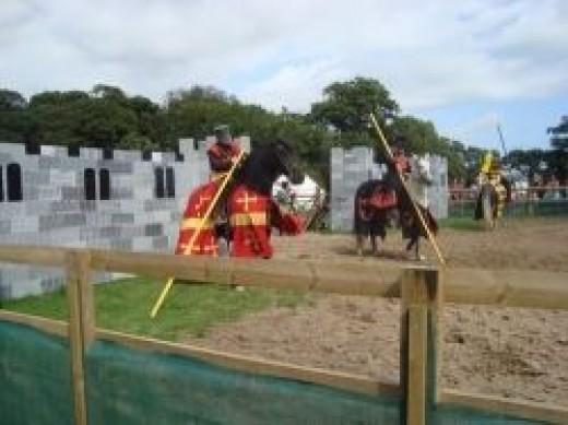 jousting knights lulworth