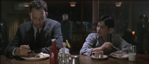 Tom Hanks and Tyler Hoechlin in Road to Perdition