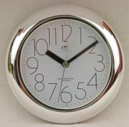 non-ticking bathroom clock
