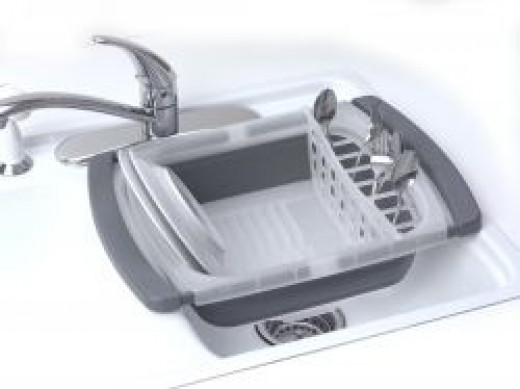 over the sink collapsible dish drainer