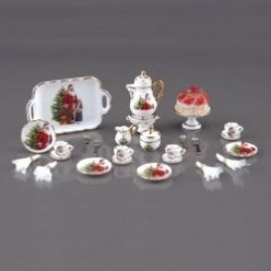 Dollhouse Miniatures | Miniature Dishes - Mini Tableware, Cutlery and Coffee and Dessert Sets
