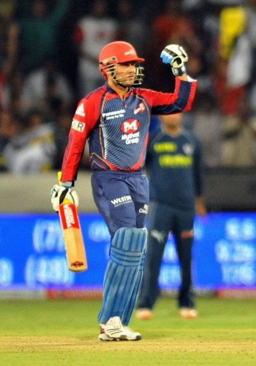 Sehwag first century in IPL