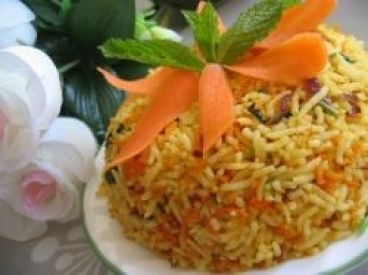 South Indian Recipe Carrot Rice