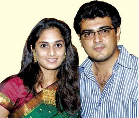Ajith Kumar (Kadal Mannan) with his Wife Shalini